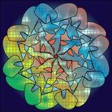Fond mocaic de fleur Image libre de droits