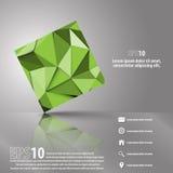 Fond moderne abstrait avec l'objet de la triangle 3D Illustration Stock
