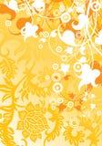 Fond moderne abstrait avec les éléments floraux, illustra de vecteur Images libres de droits