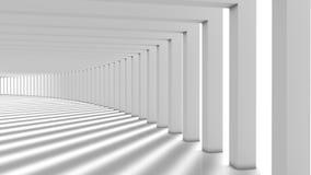 Fond moderne abstrait, colonnes Hall Images libres de droits
