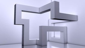 Fond moderne abstrait d'architecture, blocs 3d Photos libres de droits