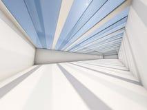 Fond moderne abstrait d'architecture, l'espace ouvert blanc vide Photographie stock