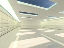 Fond moderne abstrait d'architecture rendu 3d Photos stock