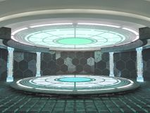 Fond moderne abstrait d'architecture rendu 3d Image libre de droits