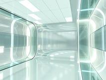 Fond moderne abstrait d'architecture rendu 3d Photographie stock libre de droits