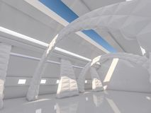 Fond moderne abstrait d'architecture rendu 3d Photo libre de droits