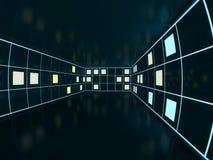 Fond moderne abstrait d'architecture rendu 3d Photo libre de droits