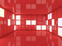 Fond moderne abstrait d'architecture rendu 3d Photo stock
