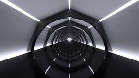 Fond moderne abstrait, inter futuriste vide Image stock