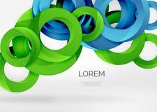 Fond moderne d'abrégé sur vecteur de l'anneau 3d illustration stock