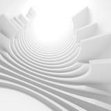 Fond moderne d'architecture Construction abstraite de tunnel Images stock