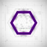 Fond moderne d'hexagone Photos libres de droits