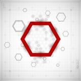 Fond moderne d'hexagone Images libres de droits