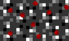 Fond moderne de contraste avec des roses Images libres de droits