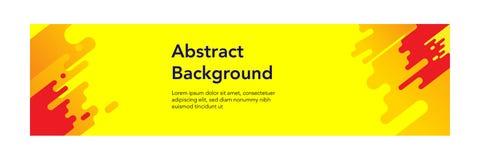 Fond moderne de design_Yellow d'abrégé sur bannière illustration de vecteur