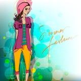 Fond moderne de mode avec le fa Images libres de droits