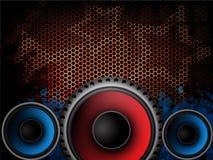 Fond moderne de musique Images libres de droits