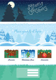 Fond moderne de Noël Photo stock