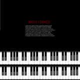 Fond moderne de piano de vecteur Photo stock