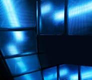 Fond moderne en verre bleu Image libre de droits
