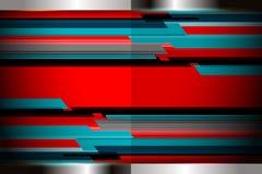 Fond moderne géométrique rouge Photos stock