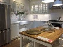 Fond moderne gentil de cuisine photo libre de droits
