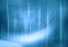 Fond moderne graphique du monde de technologie numérique, avec le monde illustration de vecteur