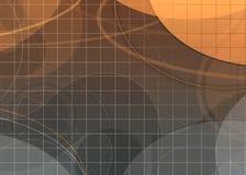 Fond moderne gris orange Photo libre de droits