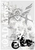 Fond modifié d'affiche de Motocycle illustration stock