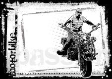 Fond modifié de motocyclette horizontal illustration libre de droits