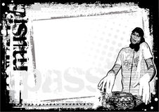 Fond modifié du DJ illustration libre de droits
