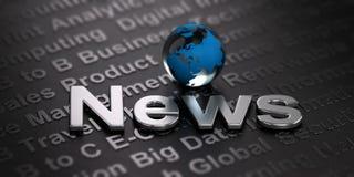 Fond mondial de nouvelles Concept de media Photographie stock libre de droits