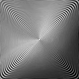 Fond monochrome de circulaire de pirouette de conception Photo libre de droits