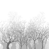 Fond monochrome de vecteur des arbres morts nus illustration de vecteur