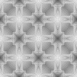 Fond monochrome sans couture d'illusion de conception illustration libre de droits