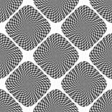 Fond monochrome sans couture d'illusion de conception illustration de vecteur