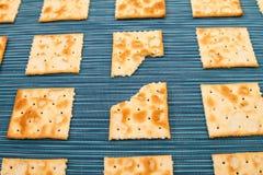 Fond mordu de biscuits Photographie stock libre de droits