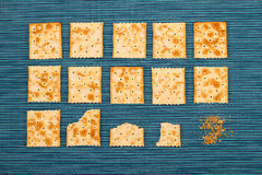 Fond mordu de biscuits Images stock