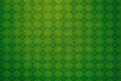 Fond texturisé de chaussette avec des losanges verte Photo libre de droits