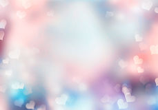 Fond mou de tache floue de coeur Image libre de droits