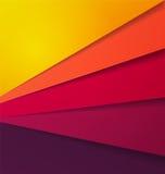 Fond multi abstrait de vecteur de couleur avec la couche de papier de chevauchement Images stock