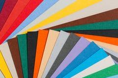 Fond multi de papier de couleur Photos libres de droits