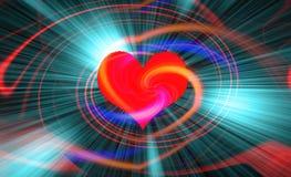 Fond multicolore abstrait avec des coeurs Images stock
