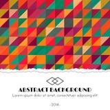 Fond multicolore abstrait avec des triangles Photos libres de droits
