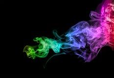 Fond multicolore abstrait d'effet de fumée illustration de vecteur
