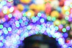 Fond multicolore abstrait de lumière de bokeh, tache floue defocused Image libre de droits