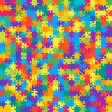 Fond 441 multicolore Bannière de casse-tête Images libres de droits