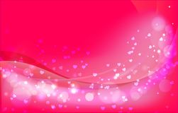 Fond multicolore d'éclat de jour du ` s de Valentine Photos libres de droits