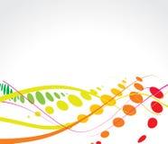 Fond multicolore d'image tramée d'onde Images stock