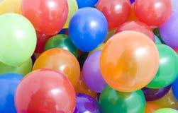 Fond multicolore de ballons Photographie stock